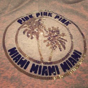 Pink Victoria's Secret Quarter-Zip Sweatshirt